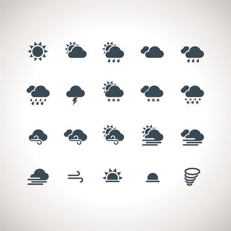 estado del tiempo: Tiempo iconos para aplicaciones web y móviles Vectores