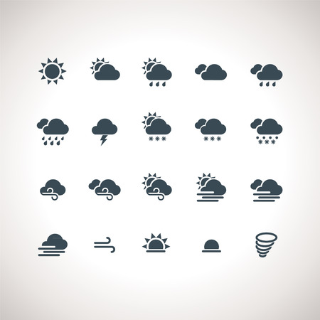 snow storm: Weather Icons Set for web and mobile applications Illustration