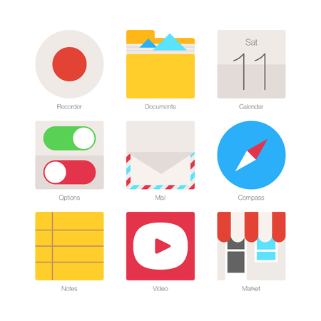 mobile phones: Vector Minimal Flat Icons for mobile phones Set 3