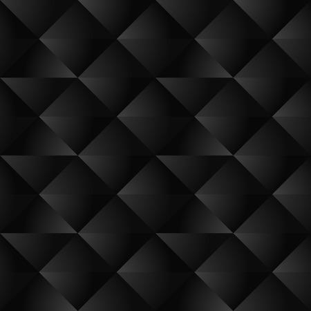 Black Geometric Seamless Pattern  イラスト・ベクター素材