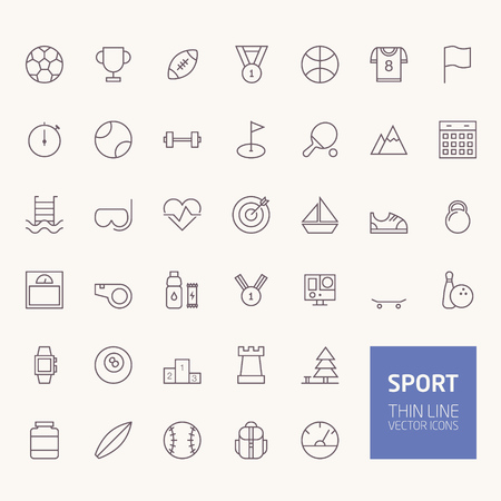 Sport Outline Icons for web and mobile apps