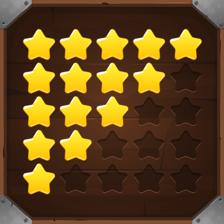xp: Vector Set of Golden Rating Stars for games and web applications