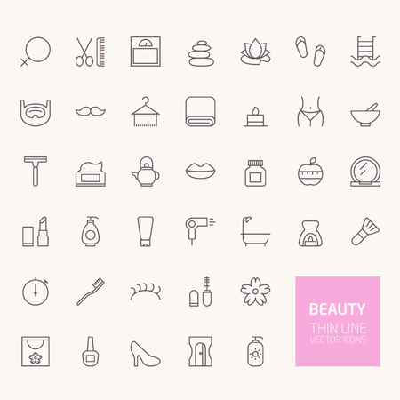 Beauty Outline Icons for web and mobile apps
