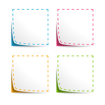 Set of Vector Coupons with cut lines 向量圖像