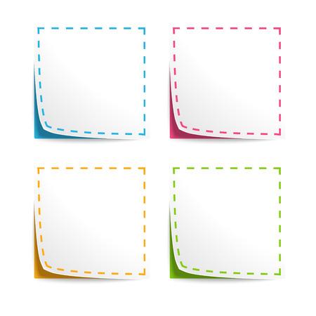 Set van Vector Coupons met cut lijnen Stock Illustratie