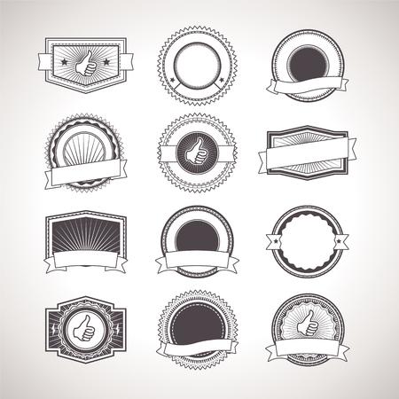 sellos: Insignias de la vendimia. Etiquetas vectorial Retro