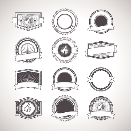 stamps: Vintage badges. Vector Retro Labels