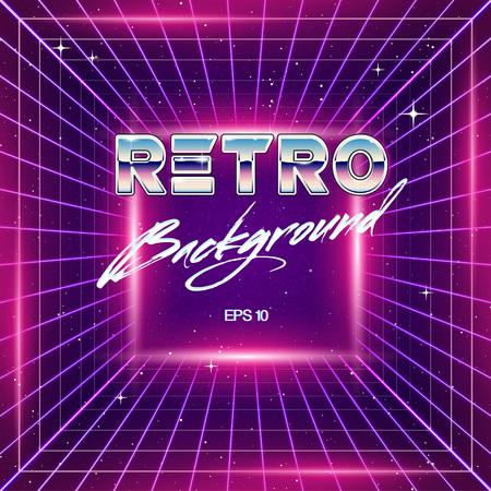 80s: 80s Retro Sci-Fi Background Illustration