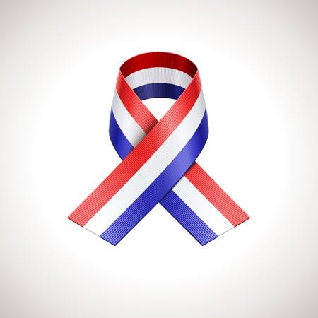 tricolor: USA Tricolor Ribbon. Vector American Patriotic Sign
