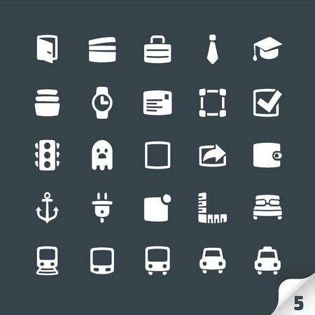 plug hat: Set of Office and Media Icons
