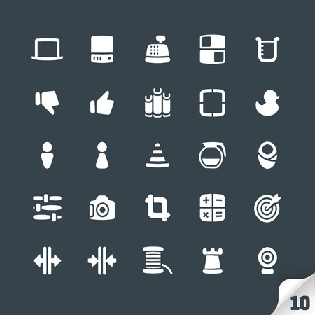 thumbs: Set of Office and Media Icons