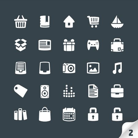 office documents: Set of Office and Media Icons