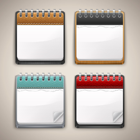 Collection of Calendar Icons. Vector Set of Realistic Calendars