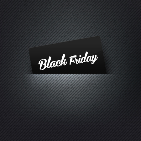 black: Black Friday label in poket card, vector illustration