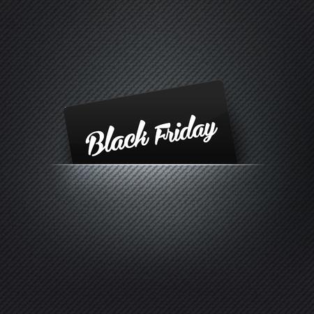 free christmas background: Black Friday label in poket card, vector illustration