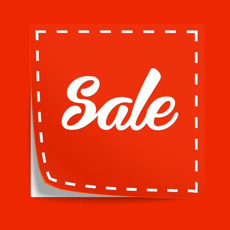 coupon: Coupon with Sale tag. Vector label with cut lines
