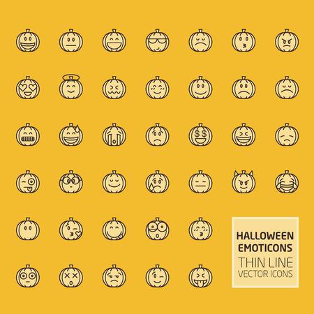 funny face: Halloween Pumpkin Smiles Set
