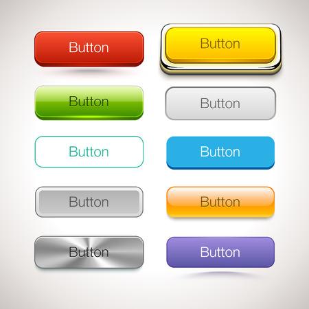 別のスタイルのボタンのベクトル コレクション