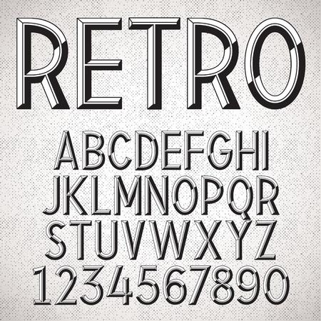 vintage sign: Vector Metal Embossed Font Illustration