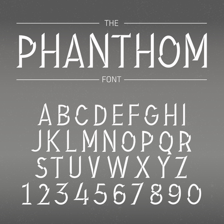 retro font: Vector Font with Shadow
