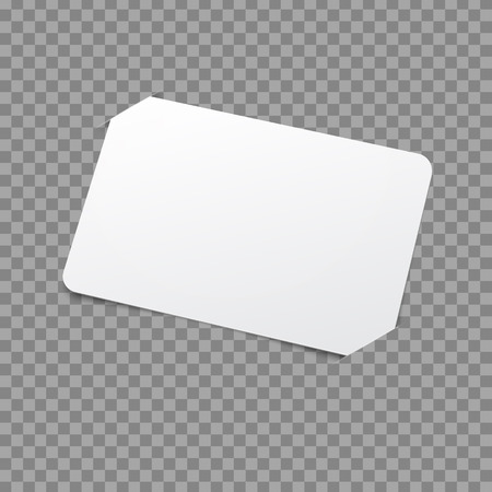 label frame: White Card Template. Vector Mockup with placeholder