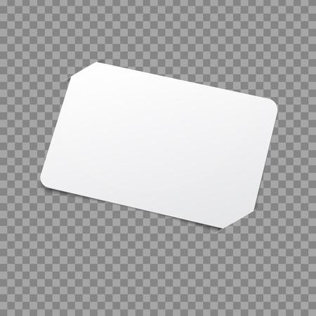 Witte Template Card. Vector mockup met placeholder