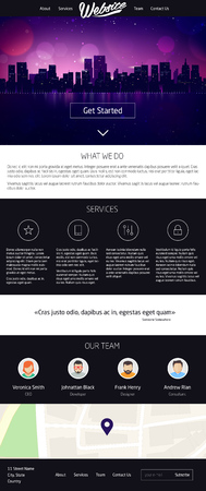 page site: Landing Page Website Design. Vector One page site template Illustration