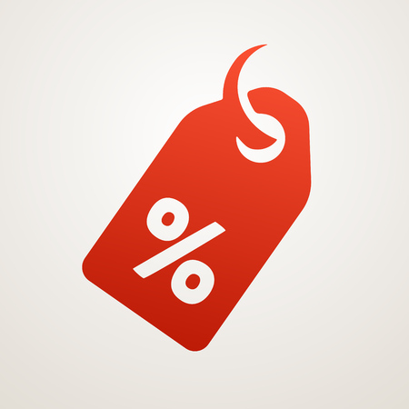 discount card: Price Tag with SALE, vector icon