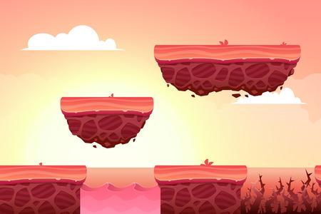 jeu: Contexte de jeu fait à partir d'éléments sans fin sans soudure. actifs vectorielles et des couches pour les jeux mobiles