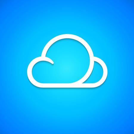 cloud icon: Vector Cloud icon Illustration