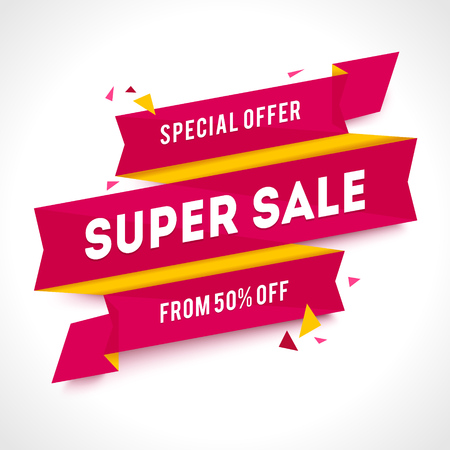 special price: Transparent SALE . Geometric Sale background. Special Price illustration Illustration