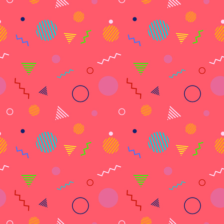 Seamless pattern with geometric shapes. Abstract vector background. Graphic design for web, print, textile, wrapping and decoration. Ilustracja