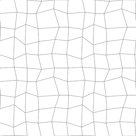Retro Lineart Pattern. Vector seamless outline background
