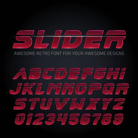 Futuristic Font. Vector Techno Alphabet. Ilustracja