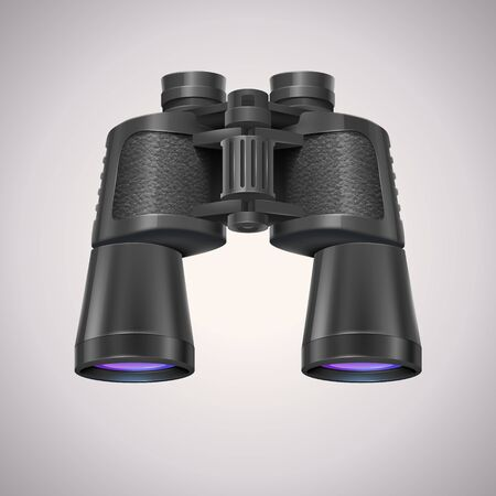 Binoculars icon on white background. Search and Find icon. Vector Realistic illustration.