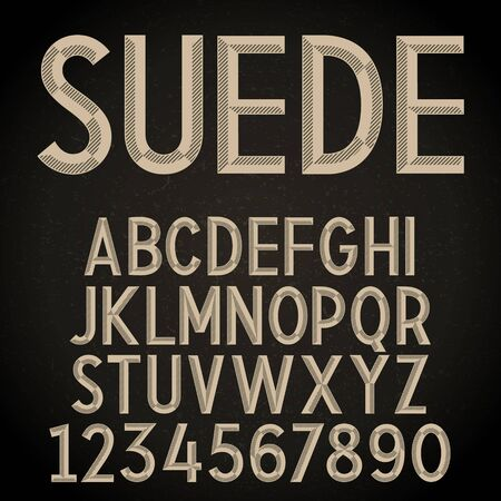 Vector Retro Font. Vintage Alphabet on grunge background
