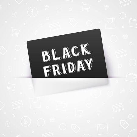 Black Friday design template. Vector illustration of sale banner
