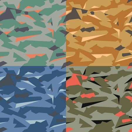 Military Camouflage seamless pattern. Modern. Deserted. texture. Vector texture for printing on fabric, web or application backgrounds.