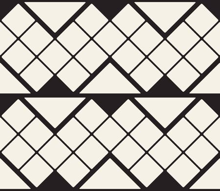 Abstract Retro Pattern with lines and triangles. Vector simple seamless background