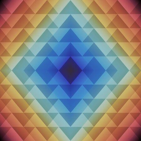 Trendy Triangle Semless Pattern. Vector colorful geometric background Ilustracja