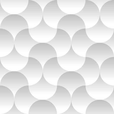 Trendy Seamless Pattern with Circles. Vector light geometric background with round shapes.
