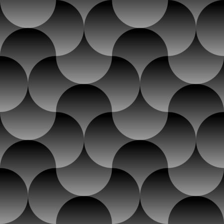 Trendy Seamless Pattern with Circles. Vector dark geometric background with round shapes.