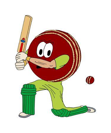 illustration of a human cricket ball Stock Illustration - 877046