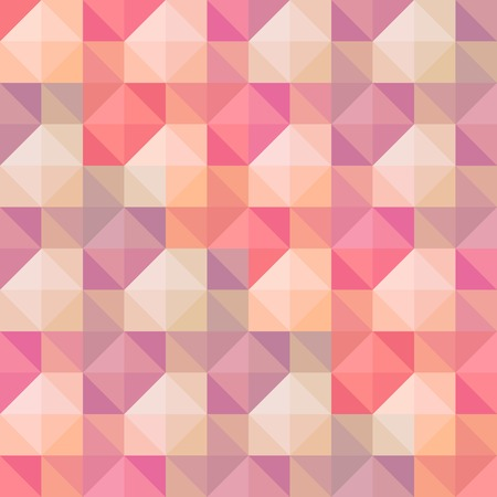 pastel shades: Abstract geometric seamless pattern, colored in retro pastel shades.