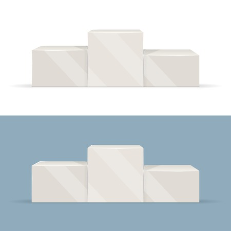 winner podium: Sport winners podium isolated vector. Clear pedestal looks nice with any background color. Illustration