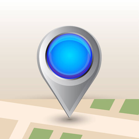 big size: Big full size map pointer icon with lens glass display.