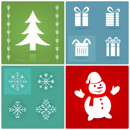 Set of Christmas symbols. Nice elements for a winter design Vector