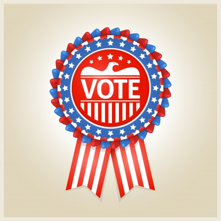 suffrage: American patriotic vote label for any election process