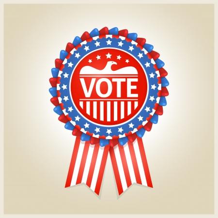 US-amerikanische patriotische Stimme Etikett für jeden Wahlprozess Standard-Bild - 24569062