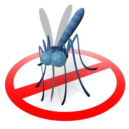 Mosquito Stop-Zeichen, eine Oberfläche, wo Mücken zu schützen ist gelandet Standard-Bild - 24569064